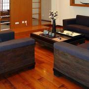 日式客厅地板贴图