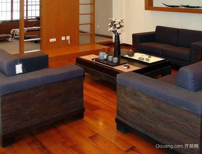 120平米自然朴实无华的客厅地板装修效果图