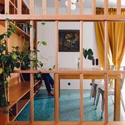 40平米淡雅型玄关隔断设计