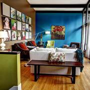 混搭风格客厅木地板装饰