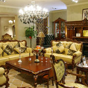 别墅奢华原木家具装饰