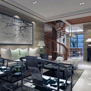 卡座沙发背景墙装修灯光设计