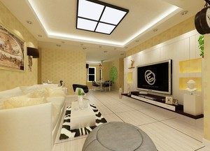 大户型家庭客厅墙纸