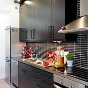北欧厨房黑色时尚橱柜