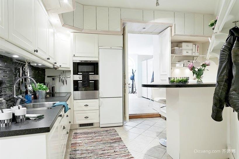 青春范儿十足的北欧风格厨房装修效果图