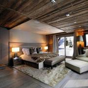 简约木屋卧室地板装饰