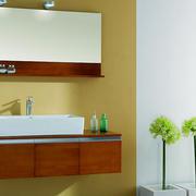 原木设计浴室柜装饰