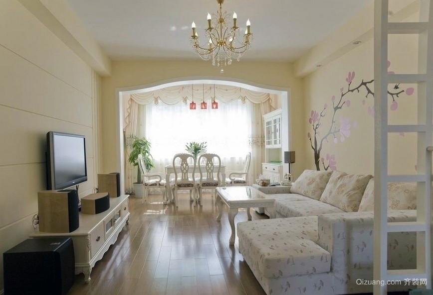 率真迷人:56平米超小型美式田园风格公寓装修