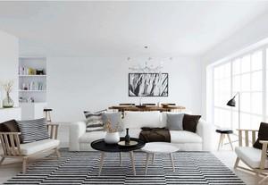 明亮简约的北欧风格客厅装修效果图