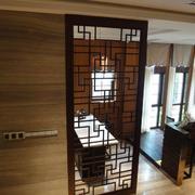 中式风格的厨房隔断