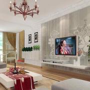 现代创意型电视背景墙