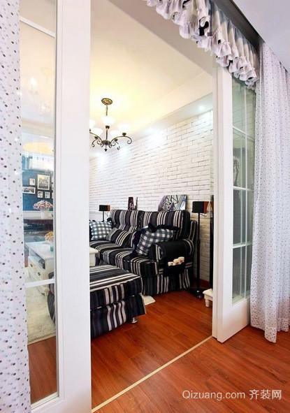 现代简约风格客厅玻璃门设计效果图