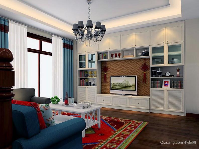 舒适唯美别墅型英伦风客厅装修效果图