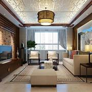 中式韵味的客厅墙纸