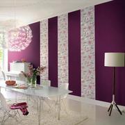 餐厅条纹紫色墙纸图案