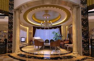 别墅豪华型欧式风格客厅装修效果图