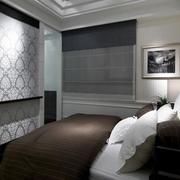 中性冷色调卧室墙纸