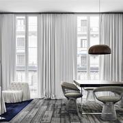 阁楼简单式样窗帘设计