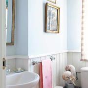 白色优雅型田园卫生间设计
