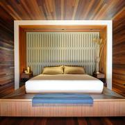 暖色调榻榻米床装修