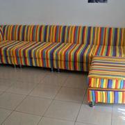 颜色鲜艳的沙发套图案