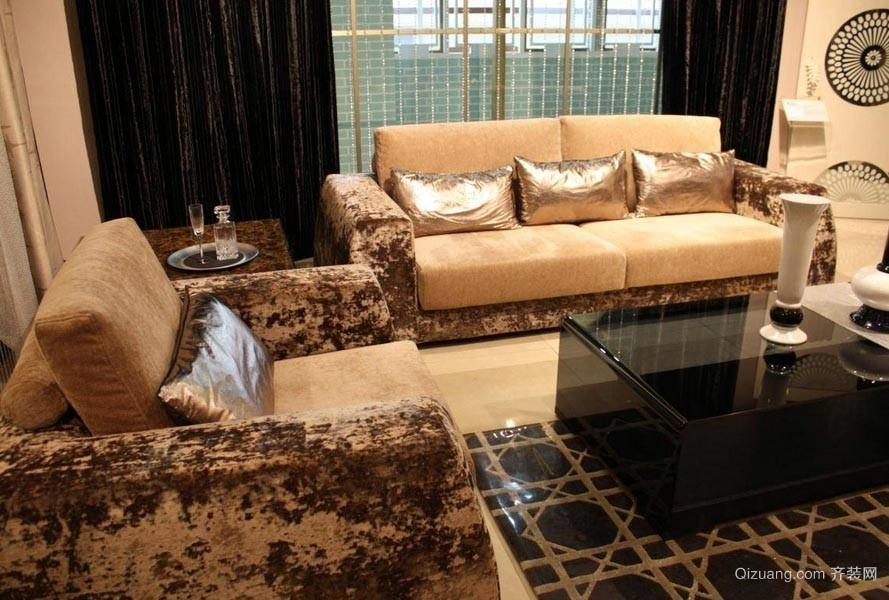一举两得:美观实用客厅休闲沙发套效果图