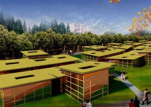 清新雅致的现代园林景观设计效果图