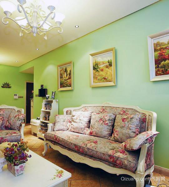 甜美活力:67平小户型田园风格卧室设计图