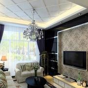 客厅电视背景墙纸