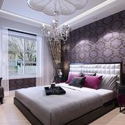 卧室紫色背景墙墙纸