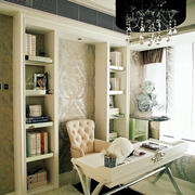 欧式书房奢华背景墙装饰