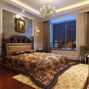 欧式奢华风格卧室深色地板