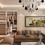 大户型客厅沙发背景墙纸