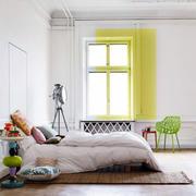 简约大型卧室原木地板设计