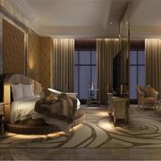 酒店卧室时尚榻榻米圆形床