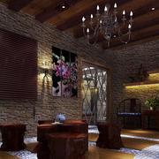 中式家居阳台文化砖