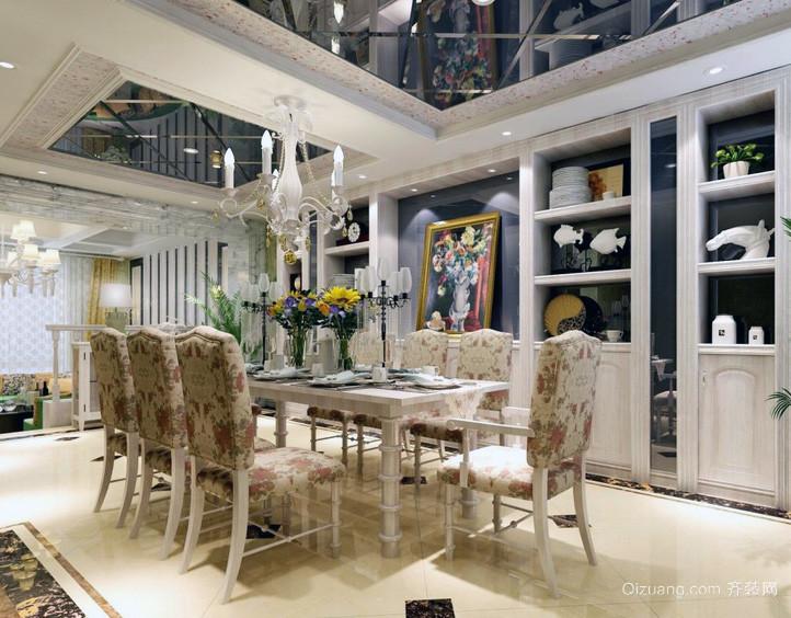 精美欧式大户型餐厅吊顶装修效果图