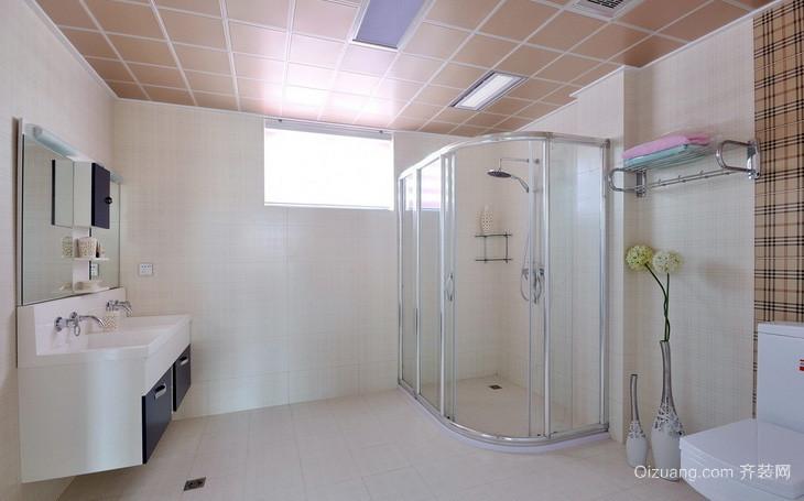 三居室自然风格卫生间隔断装修效果图