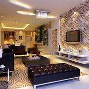 大户型客厅艺术文化砖
