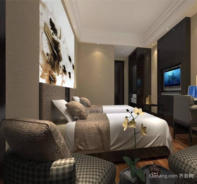 新中式风格的酒店装修设计效果图