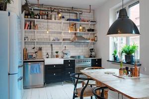 家装色彩:50平米小户型撞色效果装修图