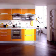 淡黄色调橱柜装修设计