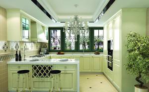 2015别墅简欧风格厨房整体橱柜效果图