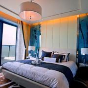 海景房地中海卧室实景图