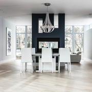 120平米欧式大户型金属质感餐厅设计