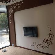 精致型硅藻泥电视墙