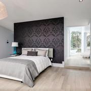 40平米欧式厨房棕色床头背景墙