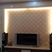 暖色调硅藻泥电视墙