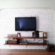 客厅白色文化砖墙面