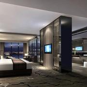 酒店卧室电视背景墙